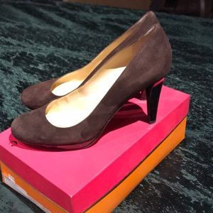 Kate Spade brown suede pump